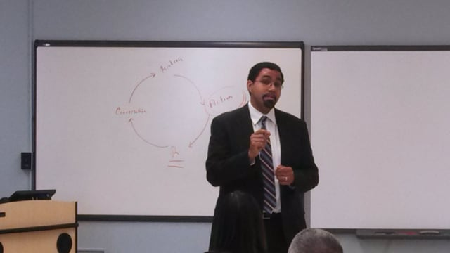 State Education Commissioner John B. King Jr. spoke about leadership at