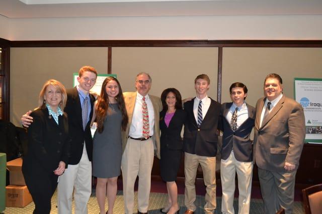 The team from Fairfield Ludlowe High School won the Junior Achievement High School Business Challenge.