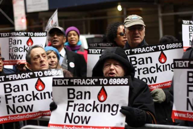 Anti-fracking protesters will stage a protest in Tarrytown Thursday, April 3 to confront Gov. Andrew Cuomo.