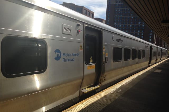 Metro-North president Joseph Giulietti recently visited the White Plains train station.