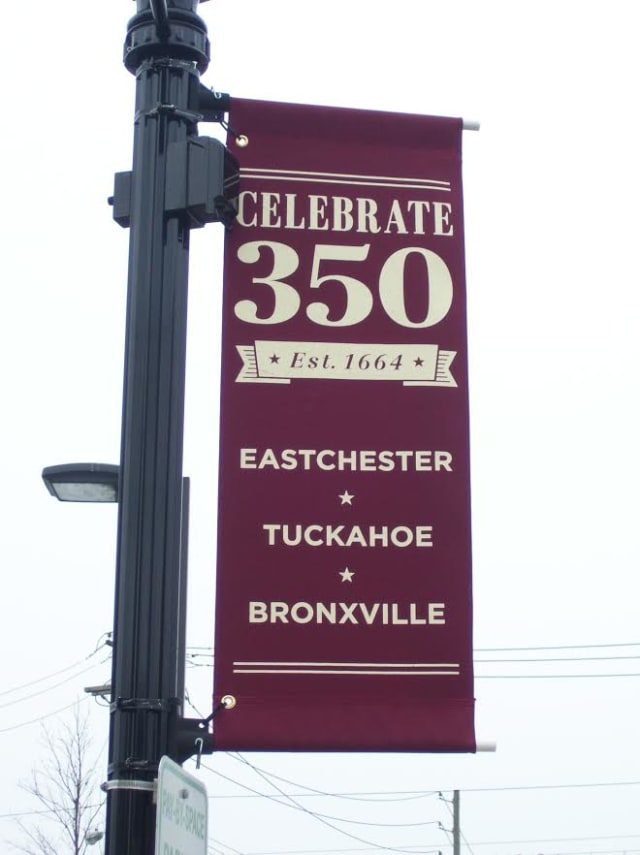 Nearly 100 of these banners will decorate Eastchester, Bronxville and Tuckahoe.