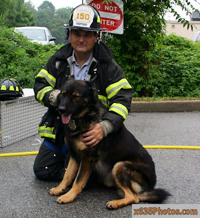 Greenville Fire Capt. Gus Spedaliere and his partner Canto.