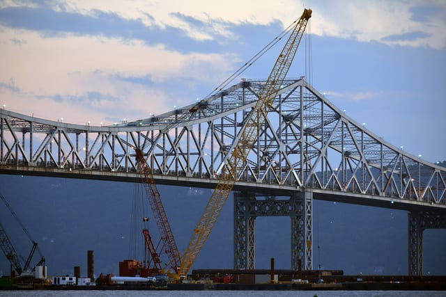 An unidentified man is in the hospital after jumping from the Tappan Zee Bridge on Wednesday morning.