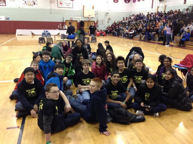 The Science Olympiad team from Scarsdale Middle School placed 17th out of 37 teams at a competition in Rochester.