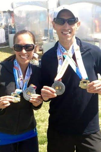 Shannon and James Whipple of Norwalk will run the Boston Marathon on Monday, April 21.
