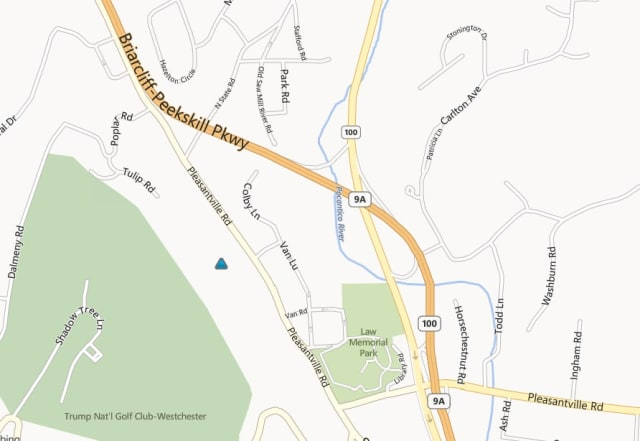 A ConEdison power outage map shows that some customers have lost power along Pleasantville Road in Briarcliff Manor.