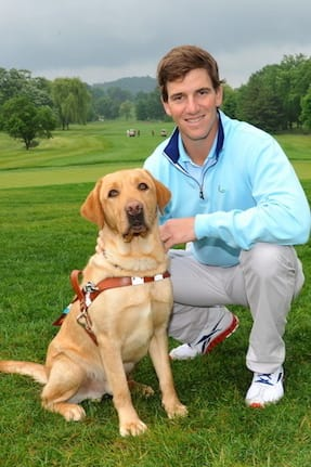 Eli Manning will host the Guiding Eyes for the Blind Golf Classic for the eighth time.