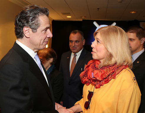 New Rochelle Library President Haina Just-Michael met with Gov. Andrew Cuomo earlier this month regarding the library's budget.