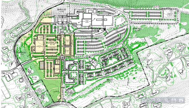 A screen shot of the latest Preliminary Development Concept Plan for Chappaqua Crossing, which is available on the New Castle website.