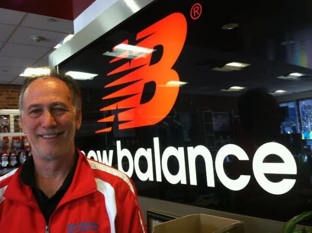 Ron Rosenfeld, owner of New Balance New Canaan, is happy a U.S. man won Boston Marathon.