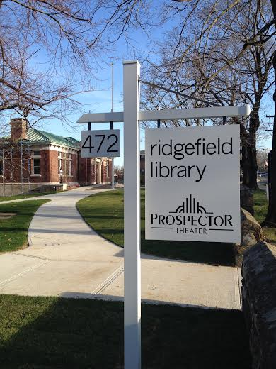 The new sign is up at the Ridgefield Library.