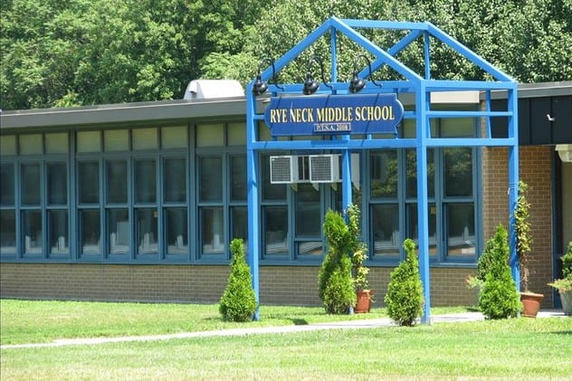 Rye Neck High School in Mamaroneck is a gold medal winner in U.S. News & World Report's annual ranking of public high schools.