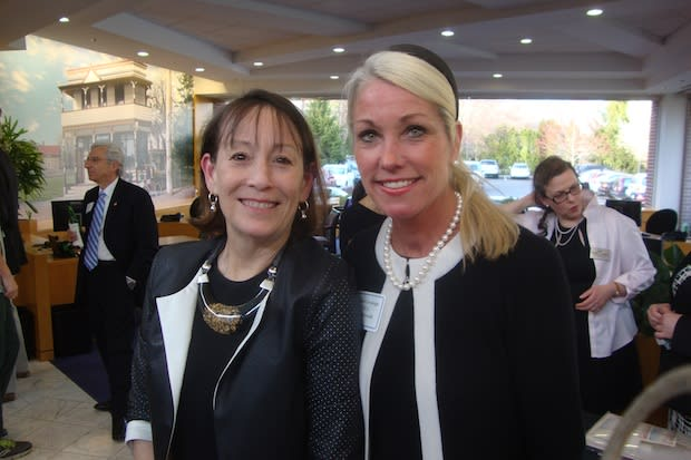 Heather Cavanagh (right), the new executive director of the YWCA Darien/Norwalk, with Carol Wilder-Tamme, who succeeded her as head of the Darien Chamber of Commerce.