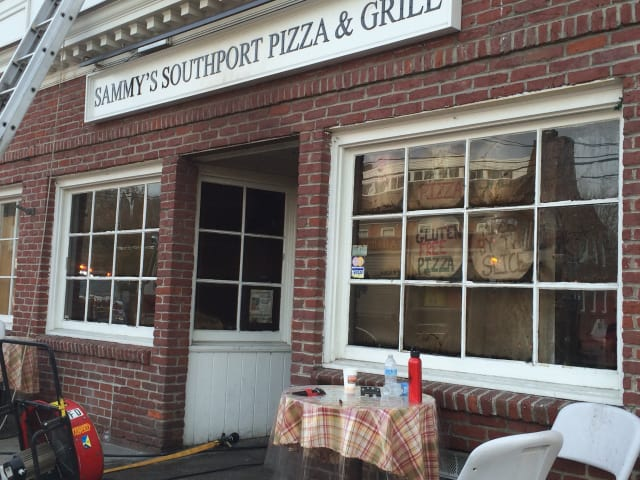 The fire at Sammy's Southport Pizza and Grille started in the early morning of April 14, and closed down Pequot Ave. for several hours that morning.