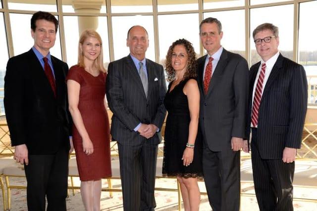 From left, Ron Cohen, Dr. Laura L. Forese, Tom Kallish, Dani Glaser, Bruce Bernacchia and Joe Murphy.