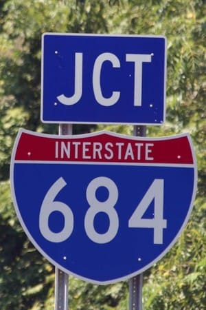 No life threatening injuries were reported in an accident involving a flipped vehicle on I-684 Sunday.