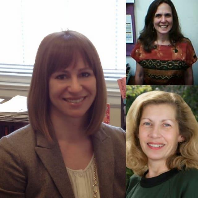 New Bronxville Elementary School Principal Patricia Murray, assistant Principal Adrienne Laitman (top) and curriculum coordinator Heidi Menzel (bottom).