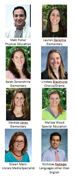 The Bronxville Board of Education recently awarded tenure to eight faculty members.