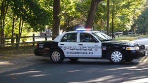 Fairfield police charged a woman with disorderly conduct after she allegedly threw her phone and broke a glass, injuring her hand.