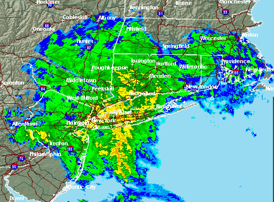 A radar image of the region at 11:32 p.m. Wednesday.