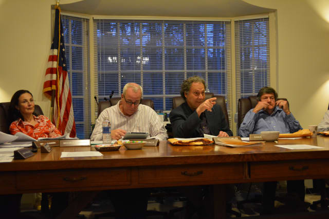 Members of the Pound Ridge Planning Board.