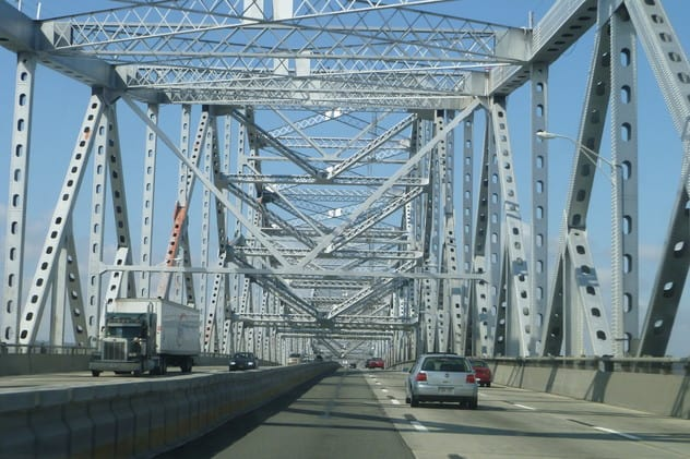 Two Queens residents were arrested and charged on Friday, May 2 after being caught climbing the Tappan Zee Bridge, according to a News 12 report.