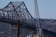 Permanent pile installation at main span of the New NY Bridge continues in early May.