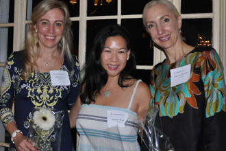 Officers of the Junior League of Bronxville from left are Allison Coyne (Finance vice president), Margaret Wang (Placement vice president) and Cammie Cannella sustainer representative).