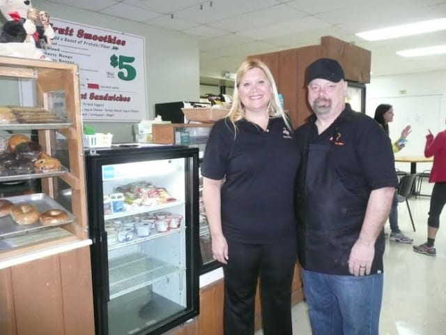 Sarah and Paul Ewud recently took over as owners of the food kiosk in the Wilton Family Y.