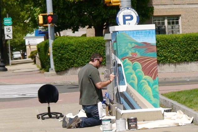Artists are bringing color to the public via traffic boxes in the urban areas of South Norwalk.