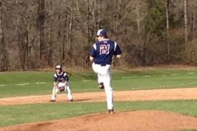 Harvey pitcher Mike Chavkin, of Armonk, allowed just three hits in a 1-0 playoff loss to Christian Heritage on Tuesday.