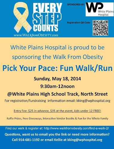 Support White Plains Hospital's first Walk From Obesity on Sunday, May 18.