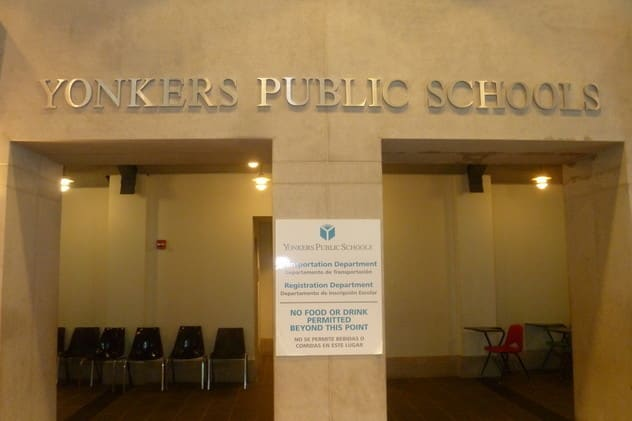 The Yonkers Board of Education has reappointed President Nader J. Sayegh and Vice President Steve Lopez.