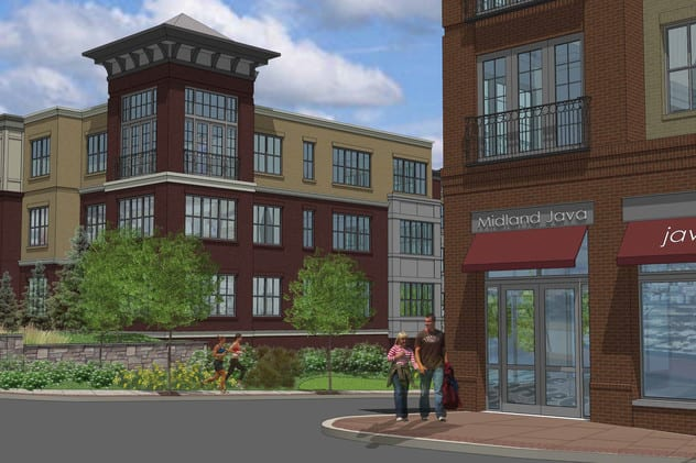 An artist's rendering of the new downtown Tuckahoe development.