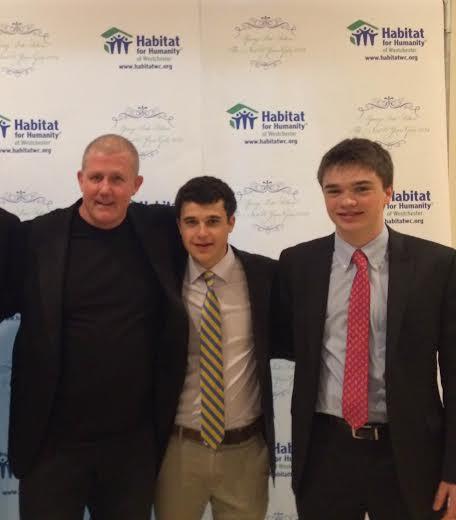 Hastings High School senior Mo Godin, center won the Youth Leadership Award.