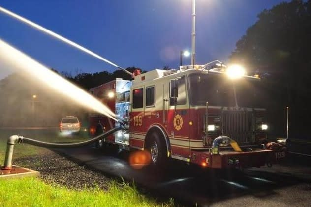 Bedford firefighters were able to extinguish a car fire at a local body shop on Saturday, May 17.