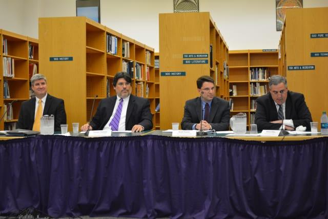 Left to right: Candidates Rory Burke, Carmen Delessio, Scott Posner and William Rifkin.