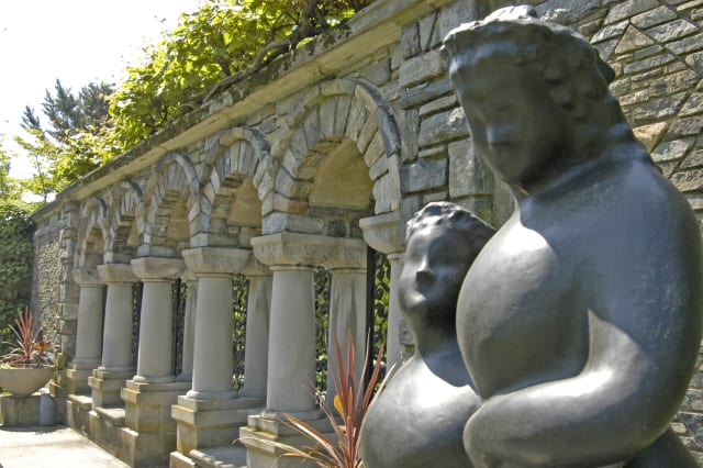 Classical sculpture at the Inner Garden at Kykuit