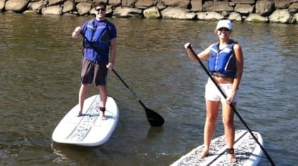 Rent a stand-up paddleboard in Stamford and explore the waters of Long Island Sound.