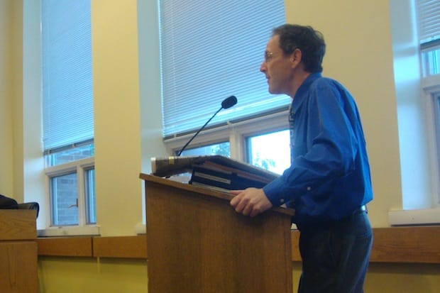 Darien Planning and Zoning Director Jeremy Ginsberg discusses the new FEMA flood maps, which has some residents upset.