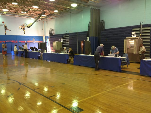 Port Chester Middle School served as the one voting location for the budget vote and election Tuesday.