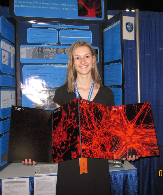 Sleepy Hollow High School junior Elizabeth Sobolik won $2,000 at the Intel International Science and Engineering Fair.