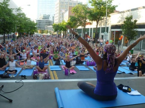 White Plains will be the site of a mega yoga event on Wednesday, June 18.
