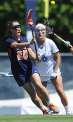 University of Virginia women's lacrosse player Casey Bocklet will look to help the team win an NCAA title this weekend in Towson, Md.