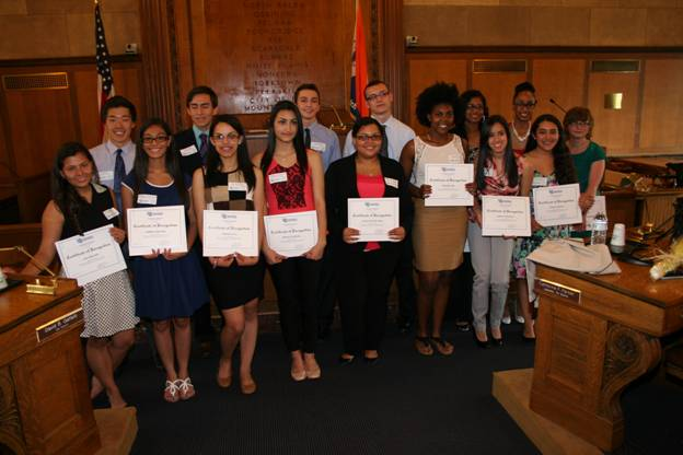 The Westchester County Board of Legislators and Donald and Jane Cecil, founders of the Jandon Scholarship, honored Arielle Ponder along with 14 other recipients on Wednesday, May 21.