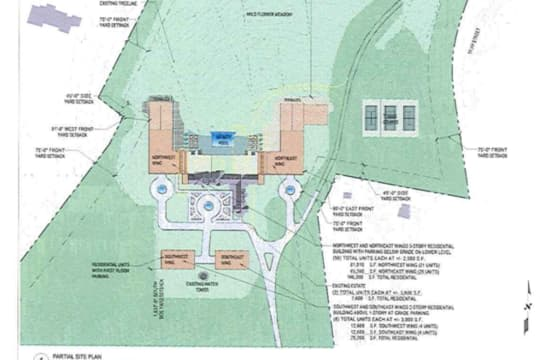 A screenshot of the proposed site plan for Rosehill.
