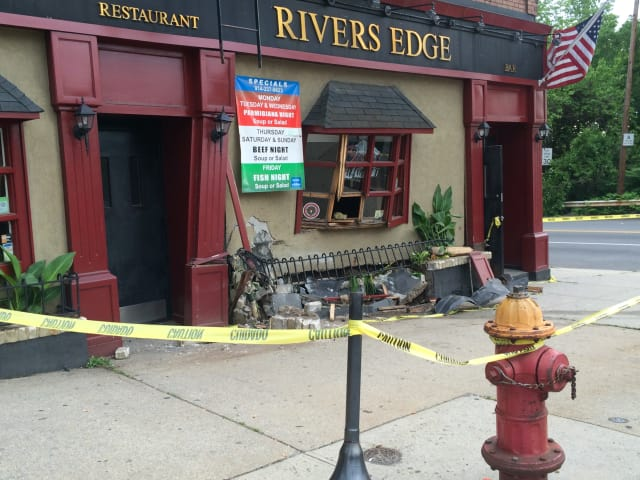 Yonkers police are still searching for the driver who crashed his or her car into a Yonkers restaurant late Monday night, displacing the 14 residents above it.