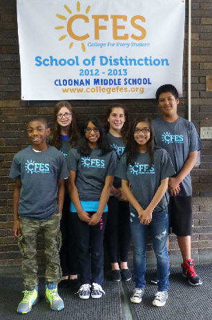 Six Cloonan Middle School students will work on their math and science skills at a four-day workshop at West Point. From left are: Isan Spruill, Taran Duncan, Hoshahnia Kumaran, Emma Sawch, Riana Soliven and Jharif Rochabrun.