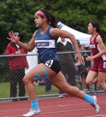 Eastchester senior Rachel Berk won the Section 1, Class B 100-meter championship recently.
