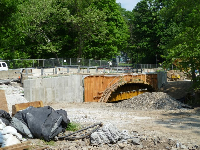The Croton Falls Road bridge, which is being rehabilitated.